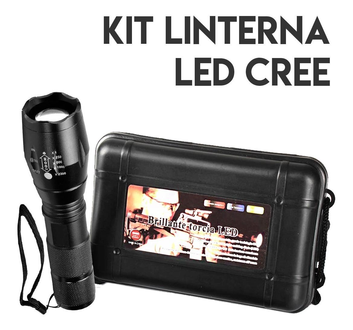 Kit Linterna Tactica 2000 Lm Ultra Fire Pila 26650 Cargador
