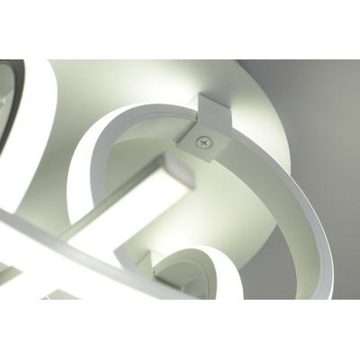 Plafon Led Moderno 60w Potencia Stathe Blanco Deco Lk