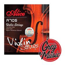 Encordado Alice 705 De Violín Cuerdas De Acero Nickel