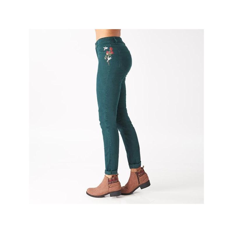 Pantalón verde bosque bordado 014420
