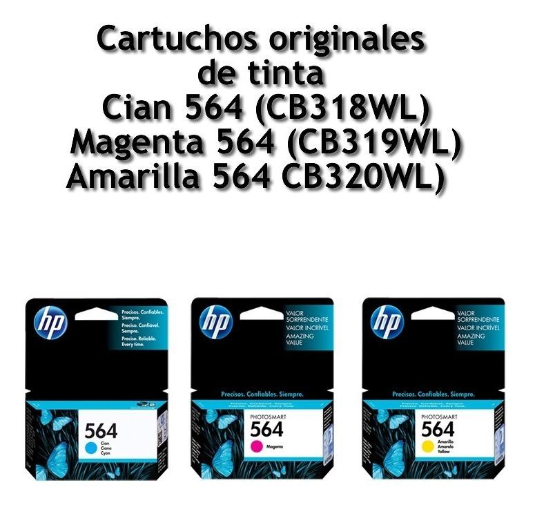 Cartucho Hp 564 Original Color Cian Magenta Amarillo C/uno
