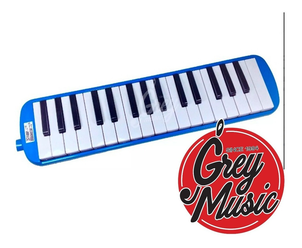 Flauta Melodica Star Maker 32 Teclas Estuche Boquilla Azul