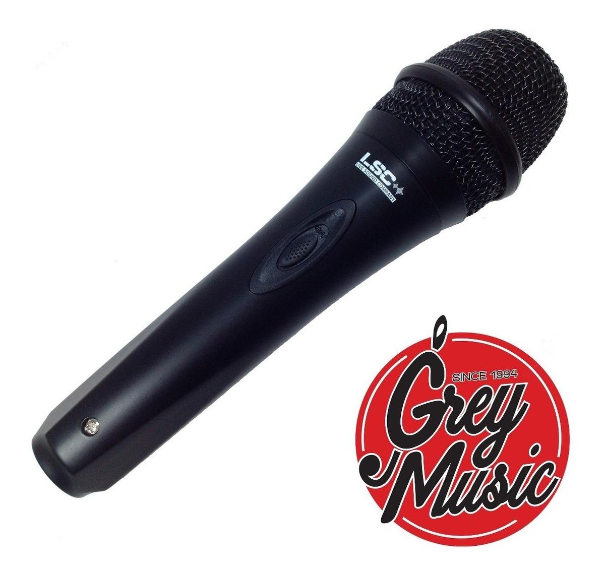 Micrófono Profesional Dinamico Lsc Sm36 Con Cable