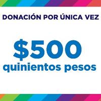 Donación $500
