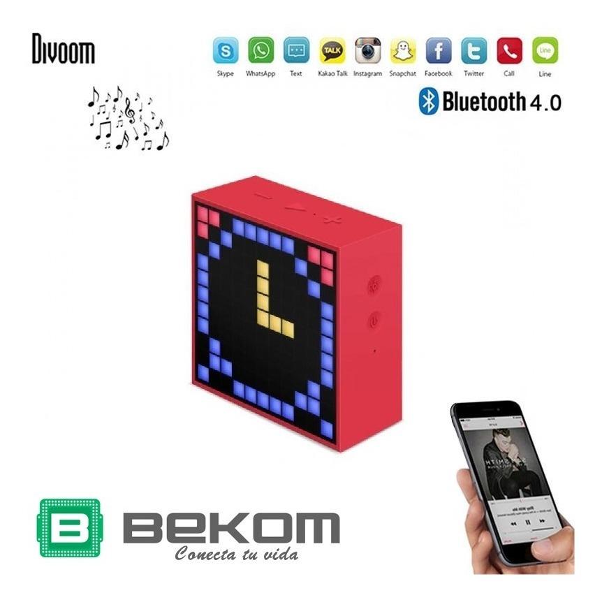 Parlante Portátil Inalámbrico Bluetooth Divoom Timebox Jbl