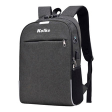Mochila Antirrobo Kolke Kvm-339 Usb Impermeable Notebook