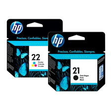 Cartuchos Hp 21 22 Combo Negro Color Original P/ F380 F4180