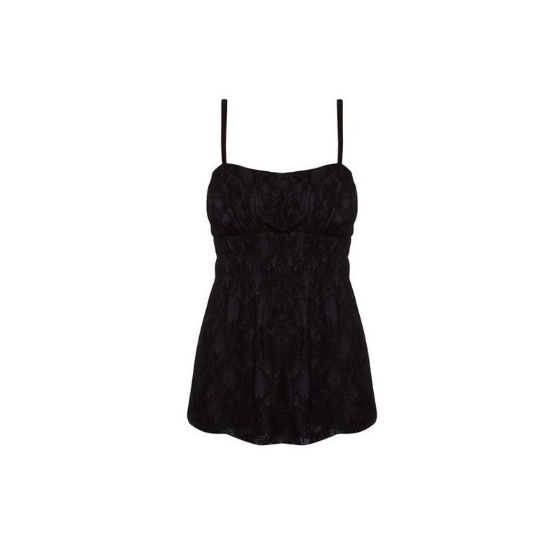 Blusa negra con tirantes 011553