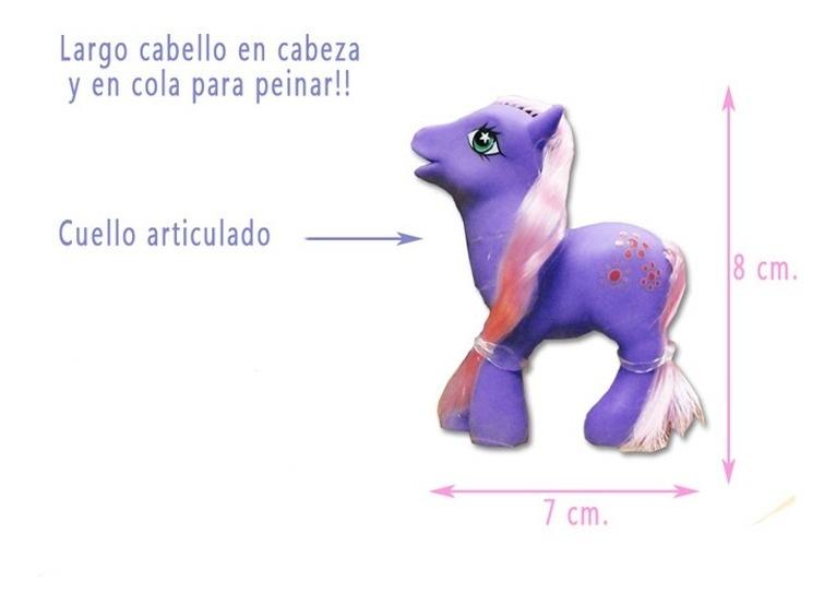 Set X 3 Mini Ponys Caballitos Articulado Pony Muñeco Niño