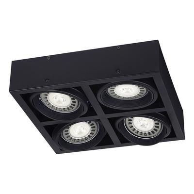 Plafon 4 Luces Cardanico Negro Moderno Apto Led Ar111 Sf