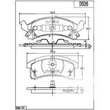 Balata Delantera Gm:Cavalier,Beretta,Pontiac,Grandam Dynamik S7385D506