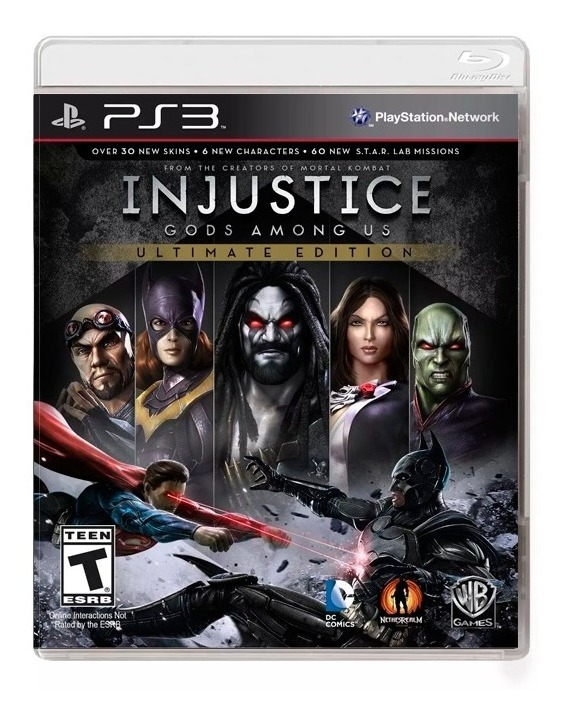 Injustice Ultimate Edition Ps3 Fisico Original Sellado