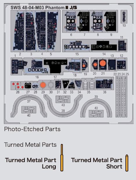 Fotograbado Interiores F-4 j/S Phantom II  escala 1/48