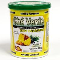 Cha Verde com Colageno Sabor Abacaxi 200g - Mosteiro Devakan