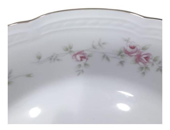 Plato Hondo Tsuji Porcelana 1869 Flores Rosas Con Oro 21 Cm