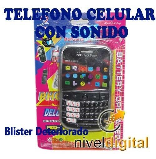 Telefono Celular Black Juguete  Sonido Blister Deteriorado