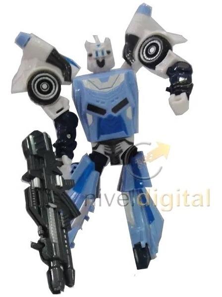 Transformer Robot Muñeco Articulado Arma Grande 16 Cm Niños
