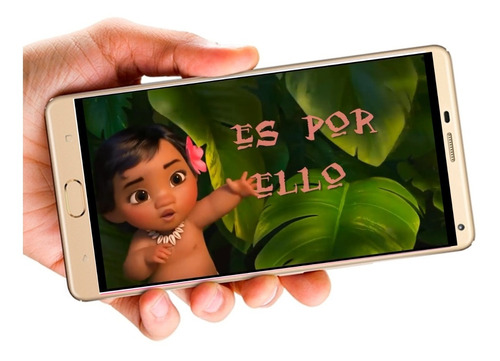 Moana Bebe Vídeo Tarjeta Invitación Digital Cumpleaños En