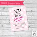 Invitación digital TD001C (Victoria's Secret)