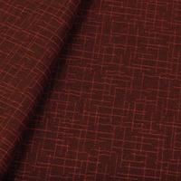 Tecido jacquard para sofá falso liso - laranja/marrom - Impermeável - Coleção Panamá