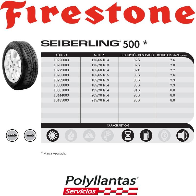 185-70 R13 86S Seiberling 500  Seiberling DESCONTINUADA