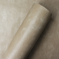 Adesivo para parede  couro bege latte - Larg. 1,22 m