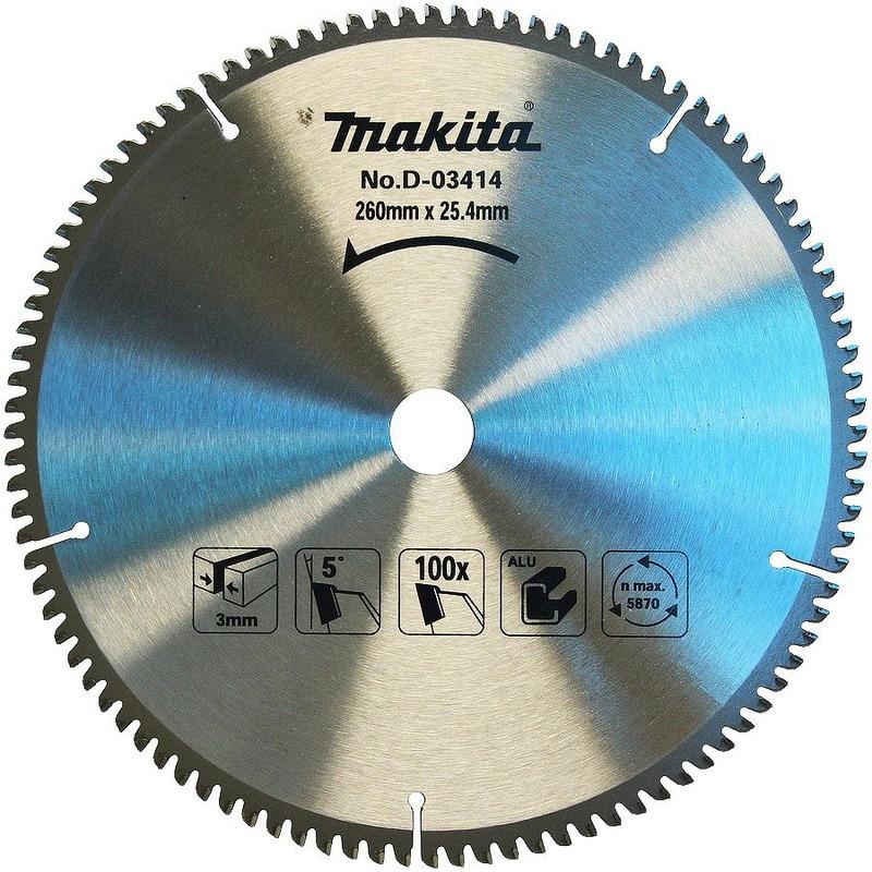 """Disco de Serra 260mm (10-1/4"""") 100 Dentes - D-03414 - Makita"""