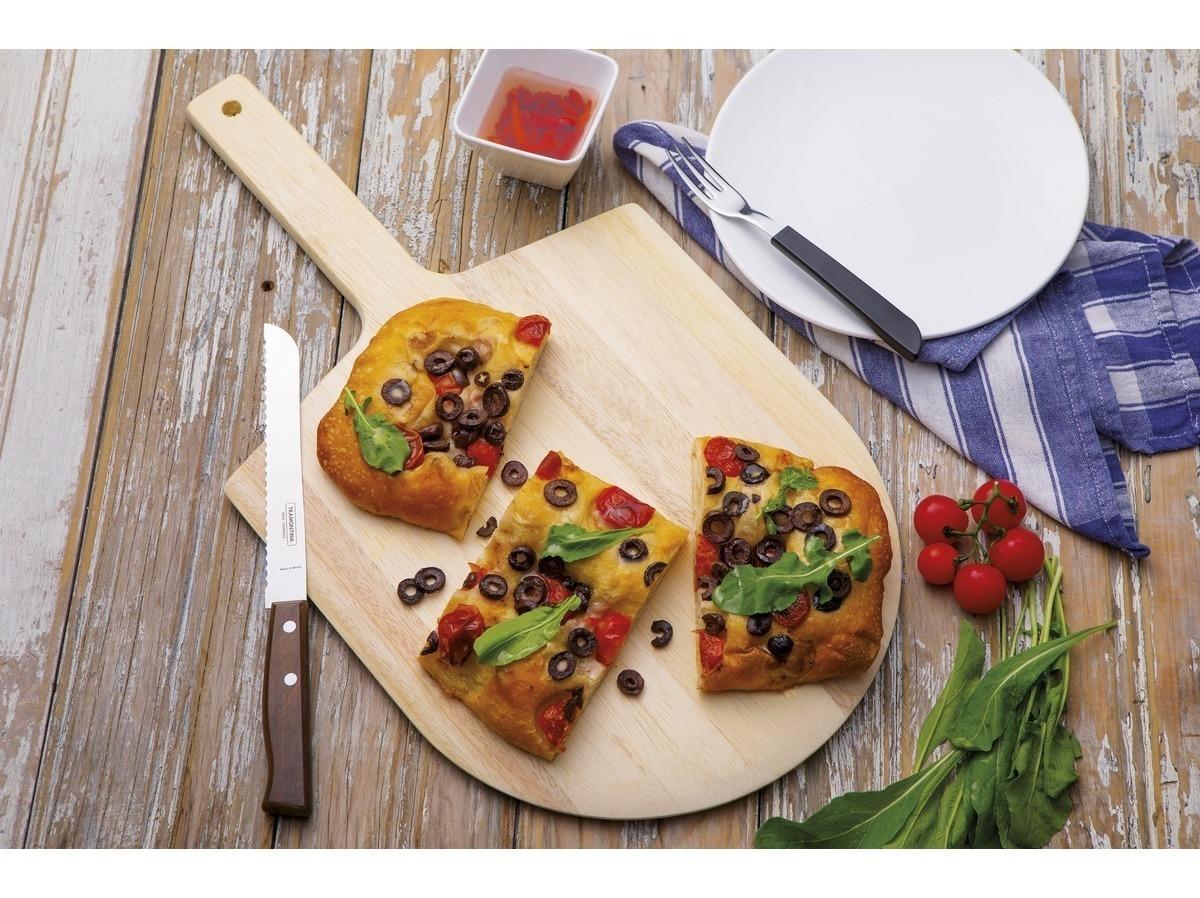 Tabla Pala Pizza Madera 55 X 30 Cm Tramontina C/ Mango Corto
