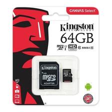 Memoria Micro Sd Xc 64 Gb Kingston Clase 10 Powerzon