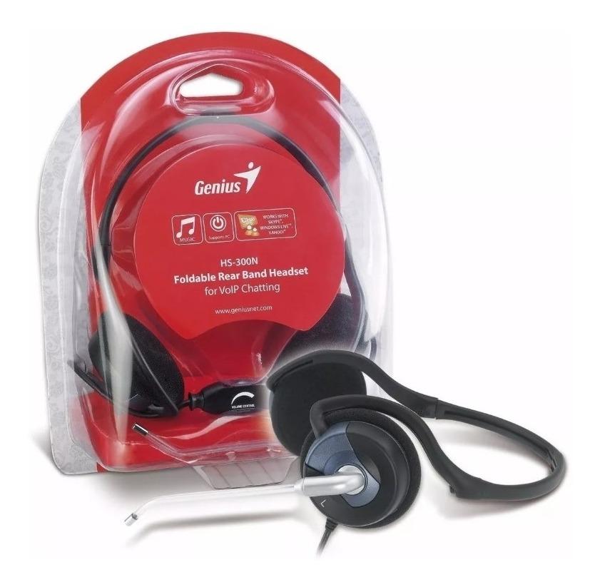 Auricular Genius Hs-300n Con Microfono Y Control Volumen
