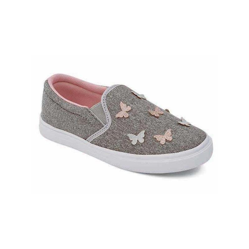 Sneakers plateados con mariposas 018433