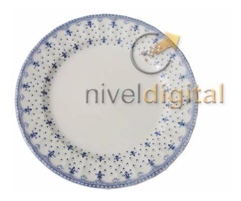 Set X 6 Platos Playos Porcelana Corona Elisa Estilo Ingles