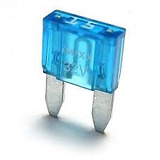Fusivel Lamina Automotivo Harley Mini Fuse 15A Azul 72330-95