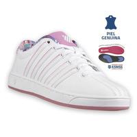 Sneakers Kswiss Blanco Con Rosa K95063