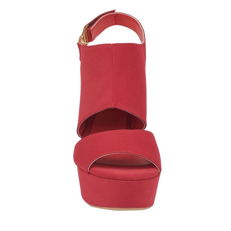 Sandalia tacón rosa abertura 016348