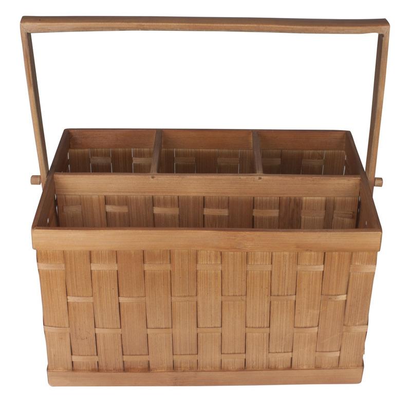 Porta Talheres Bambu com Alca 27X18Cmweave 7520580