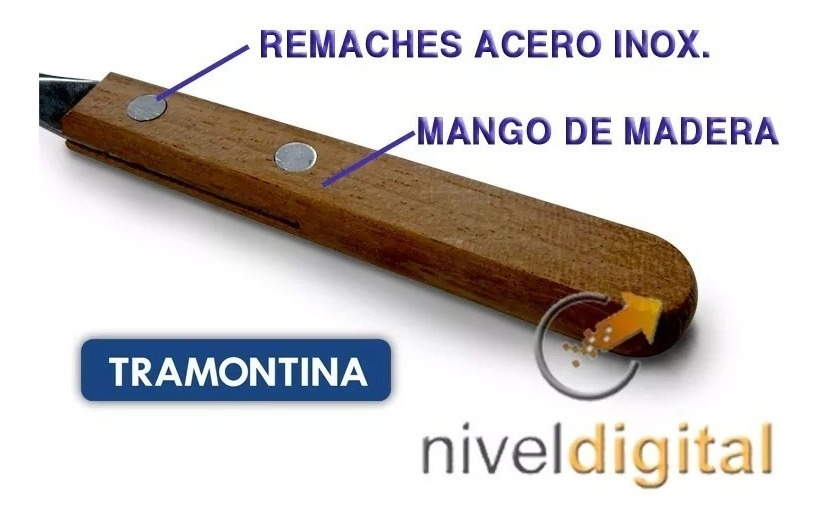 48 Cubiertos Tramontina Dynamic Mango Madera Retiro Floresta