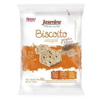Biscoito Salgado Integral Gergelim e Linhaca - 80g Jasmine