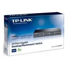 Switch 24 Puertos Bocas Gigabit Rack Tp Link Tl Sg1024d