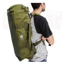 Bolso Mochila Militar Tropero 75 Litros Camping Impermeable