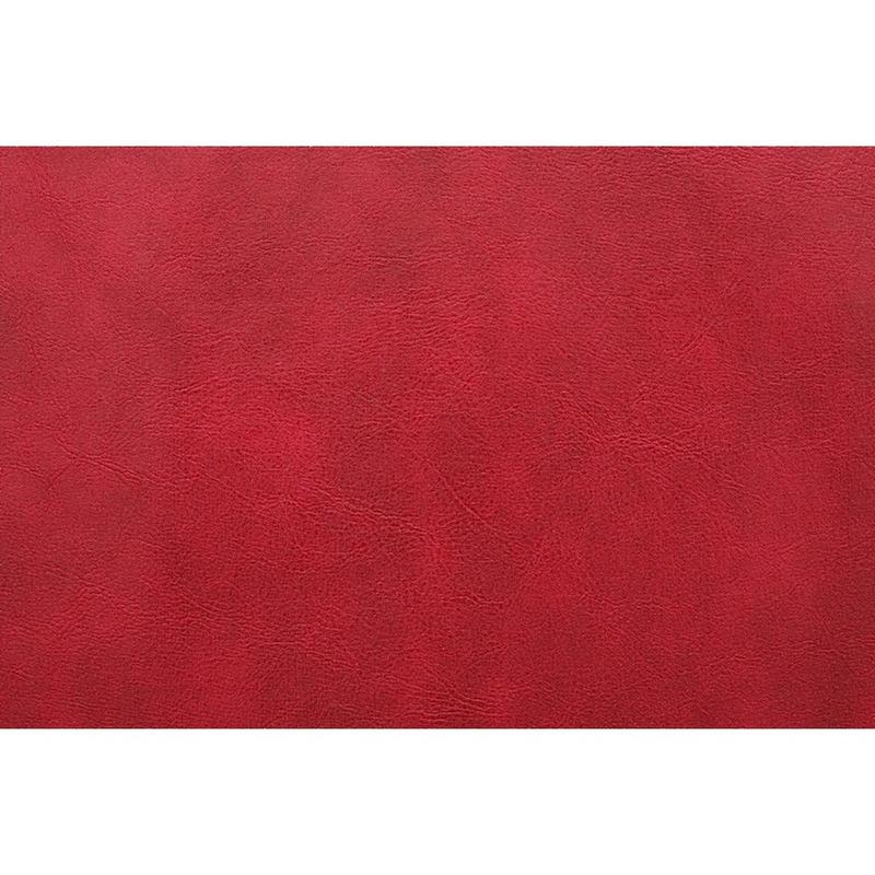 Tecido couro sintético fit modena vermelho cleveland