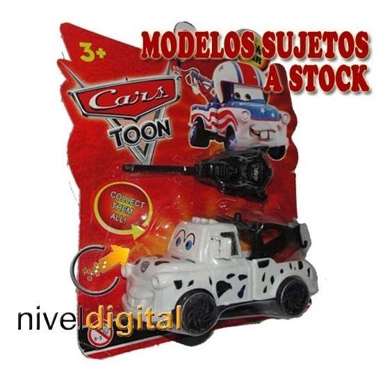 Set De 3 Camionetas Cars 2 Lanzador Llave Cumleaños Souvenir