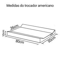 Trocador americano 80 x 50 x 10