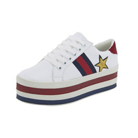 Sneakers Blancos Multicolor Con Plataforma 020357