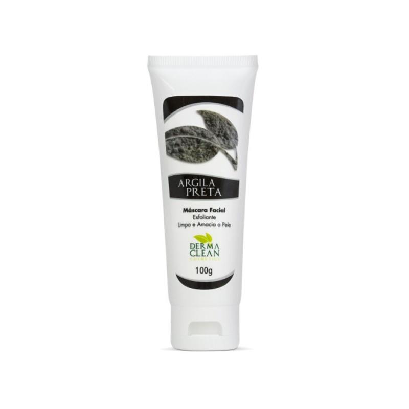 Mascara Facial Argila Preta (Esfoliante) - 100g - Dermaclean