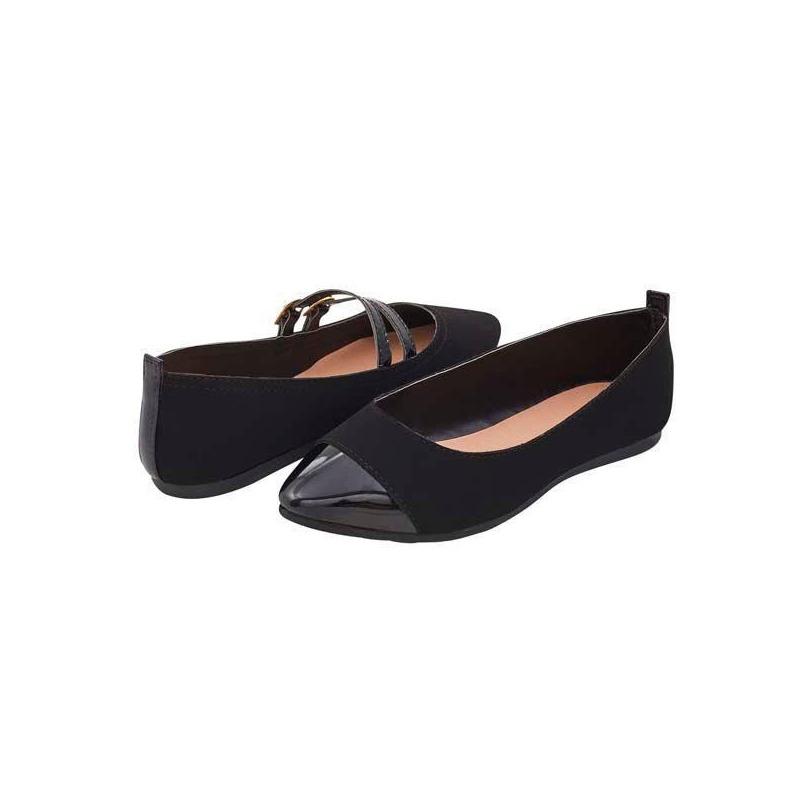 Flats negros escolares hebilla  016368