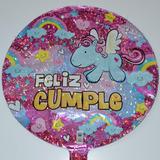 globo feliz cumple unicornio 45cm desinflado apto helio