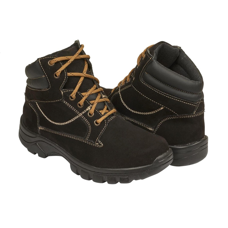 Zapatilla negra con hebilla 018805