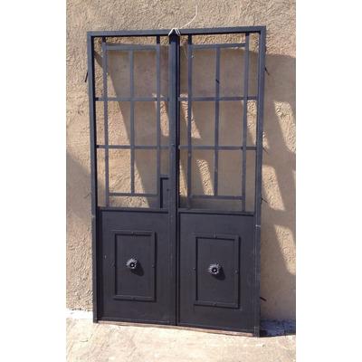 Elcarreton puerta patio 2 hojas de hierro vidrio repartido en venta en mataderos capital federal - Puertas de hierro para patios ...