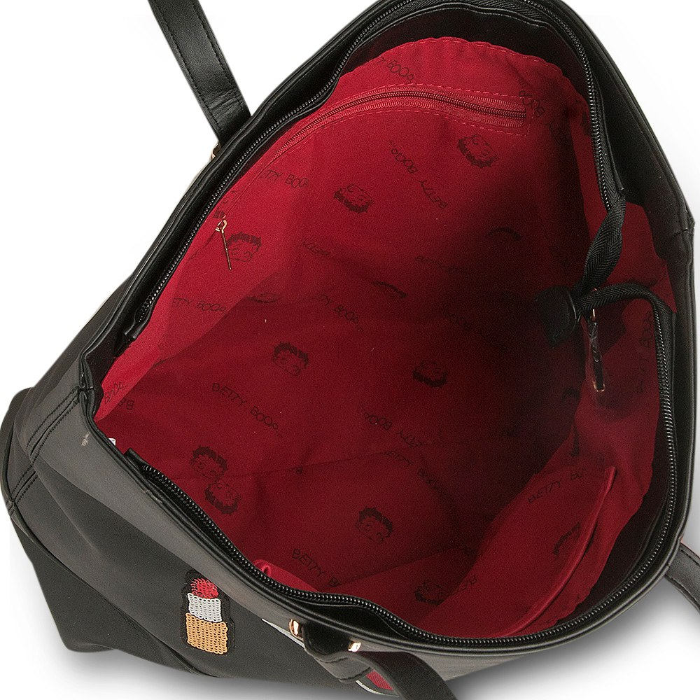 fdee1030d Bolsa Tote Bag Love Betty Boop BP2902 Preta | boaloja